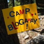 Camp BlogAway sign