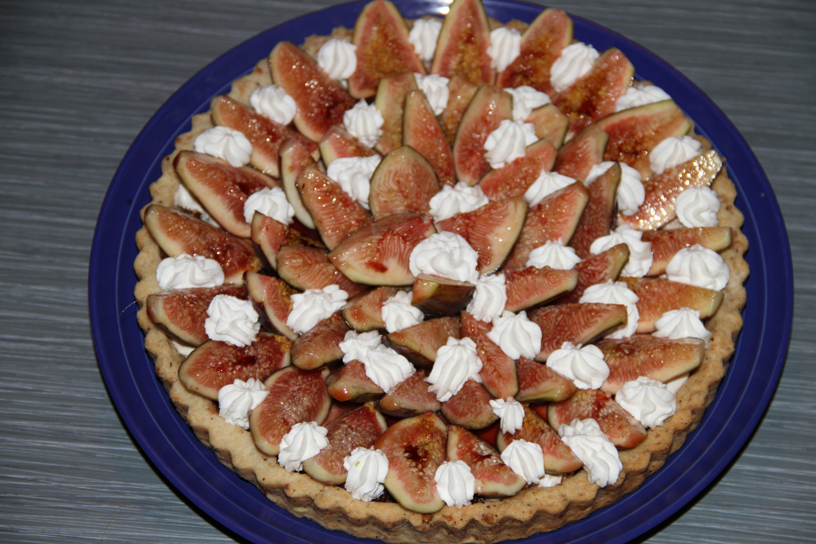 fig tart with mascarpone