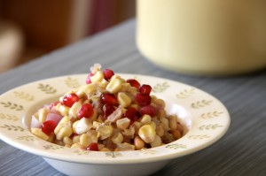Corn Pomegranate Side Dish for Thanksgiving
