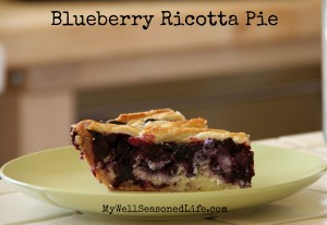Blueberry Ricotta Pie