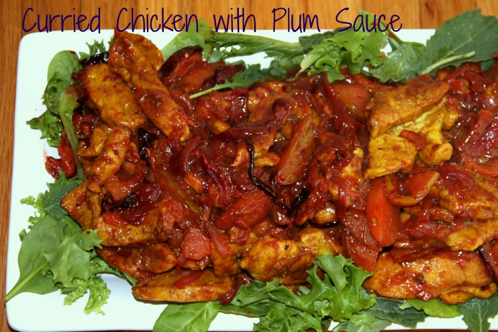 curried chicken and plum sauce