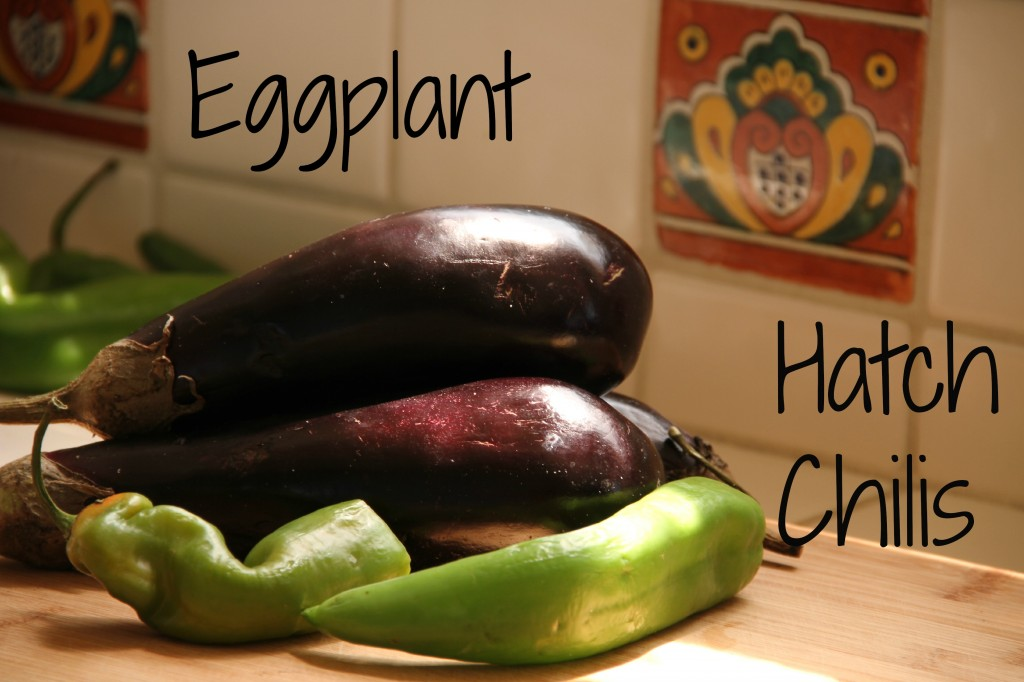 Eggplant & Hatch Chilis