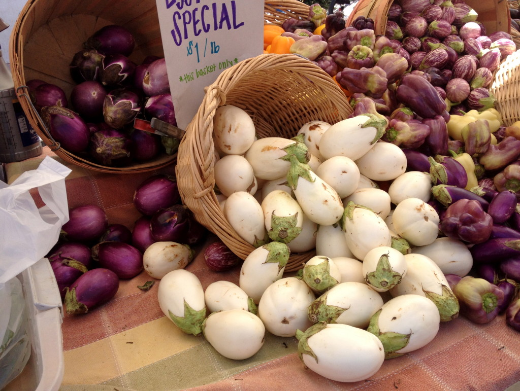 Eggplant at the farmer's market