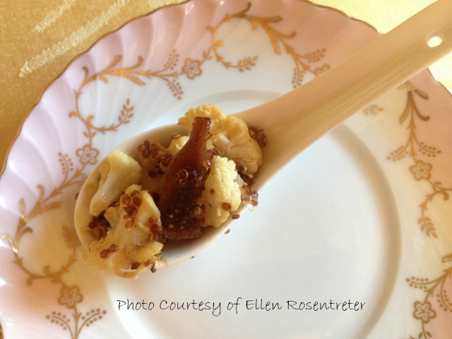 Cauliflower and dried fig