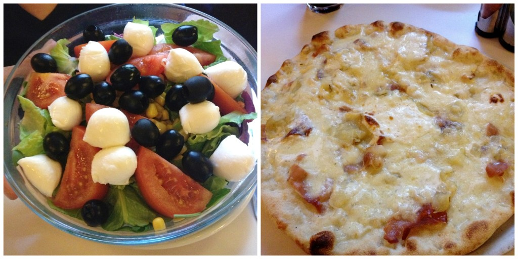 Dar Poeta pizza and salad