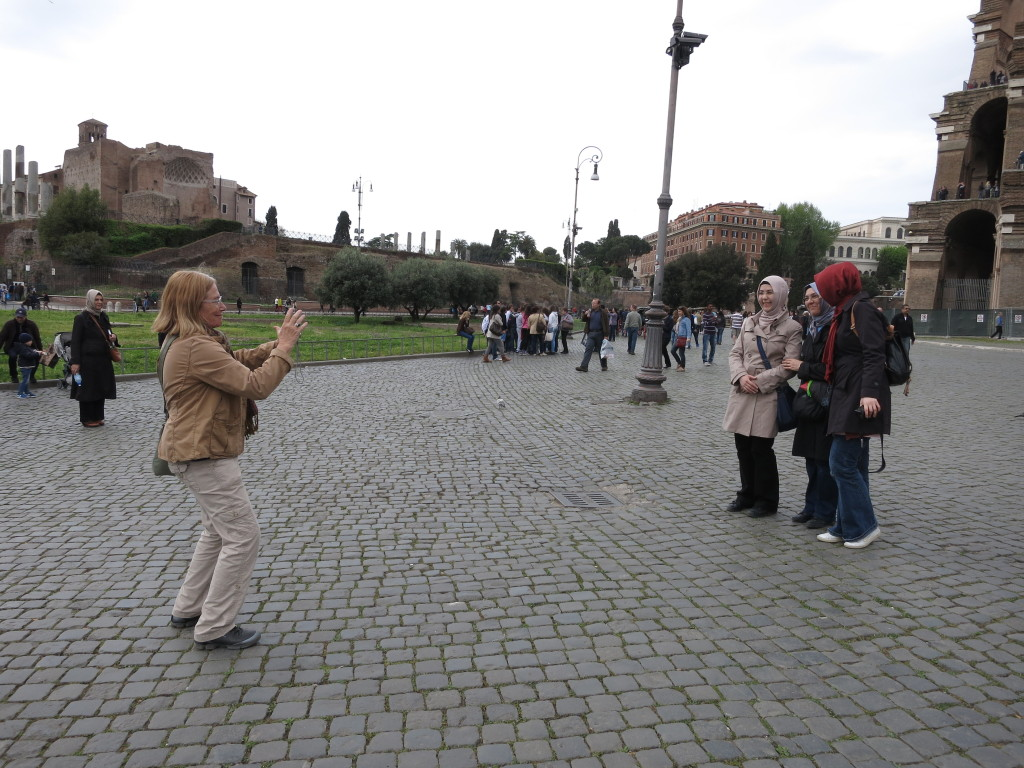 Tourists taking pictures Rome