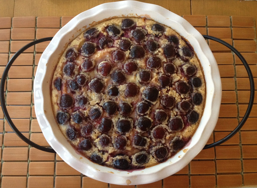 Cherry and Mango Clafoutis