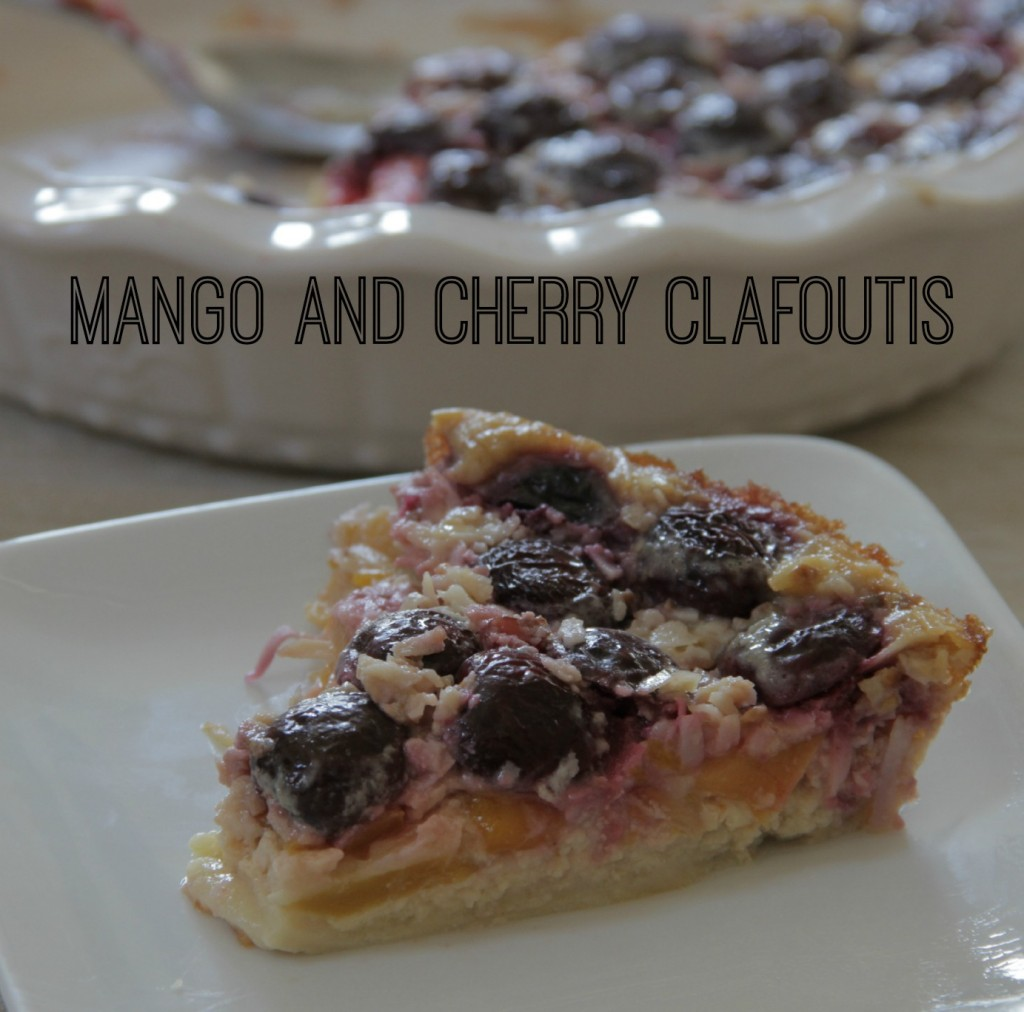 Mango and Cherry Clafoutis
