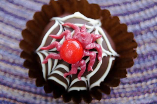 chocolate spider truffles