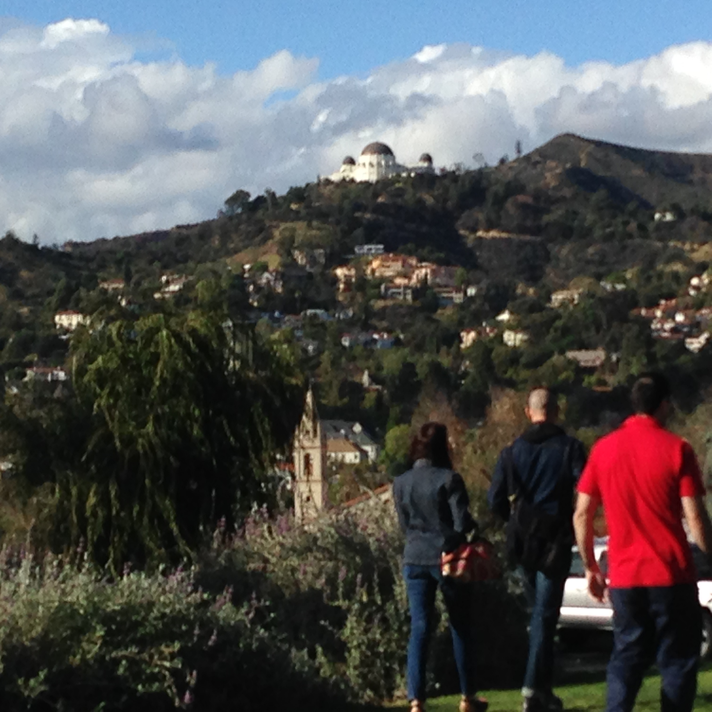 Griffith Observatory from Barnsdall