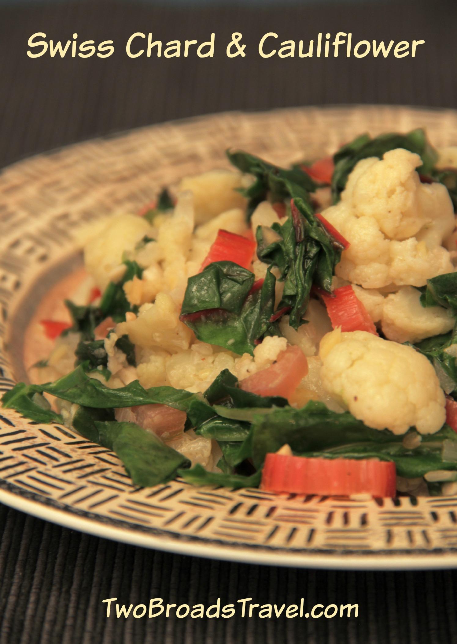 swiss chard cauliflower