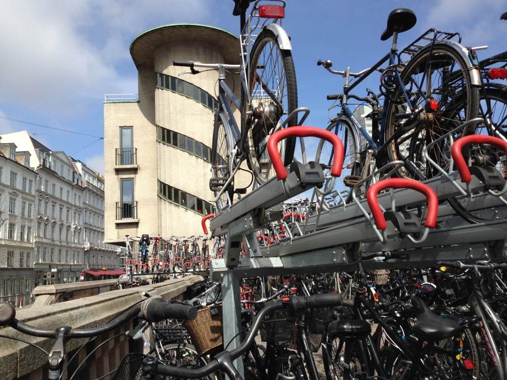 Bikes at train station Copenhagen