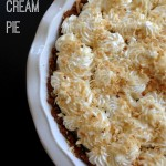 coconut cream pie ginger snap crust