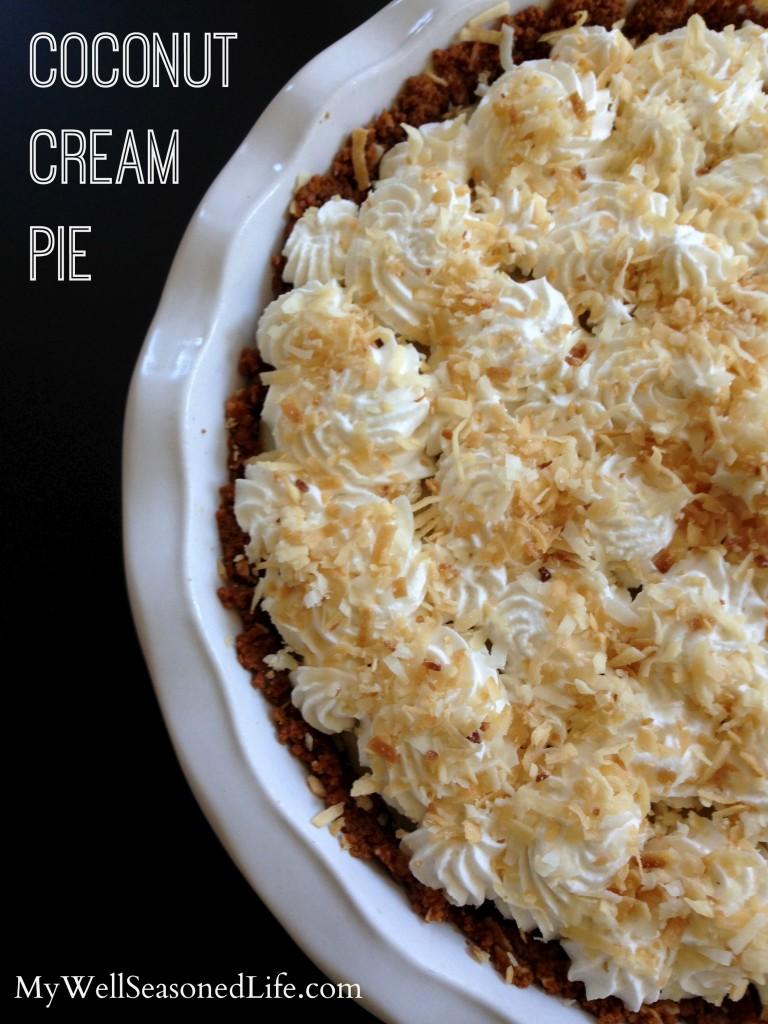 coconut cream pie ginger snap crust