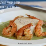 Coconut Corn Panna Cotta Shrimp