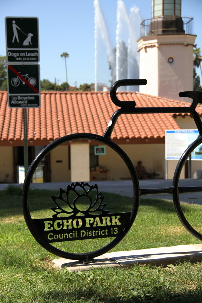 Echo Park Lake Sign