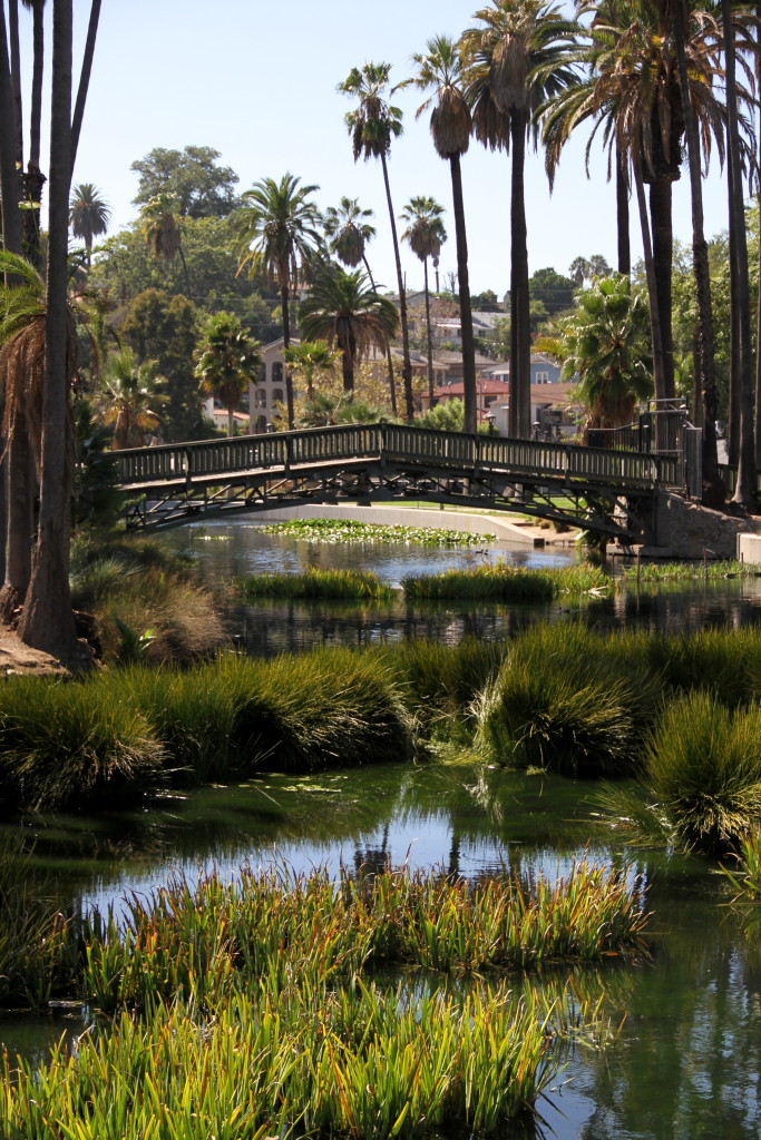 Echo Park Lake Bridge