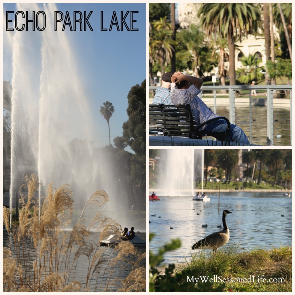 Echo Park Lake Collage