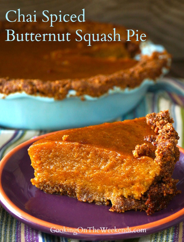 chai spiced butternut squash pie recipe