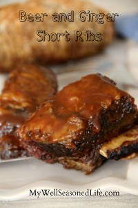 beer and ginger short ribs