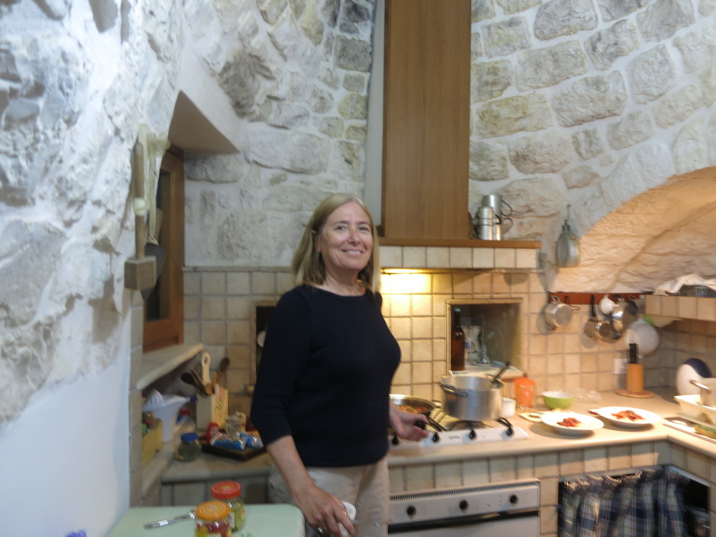 Judy in Kitchen in Trulli, Puglia