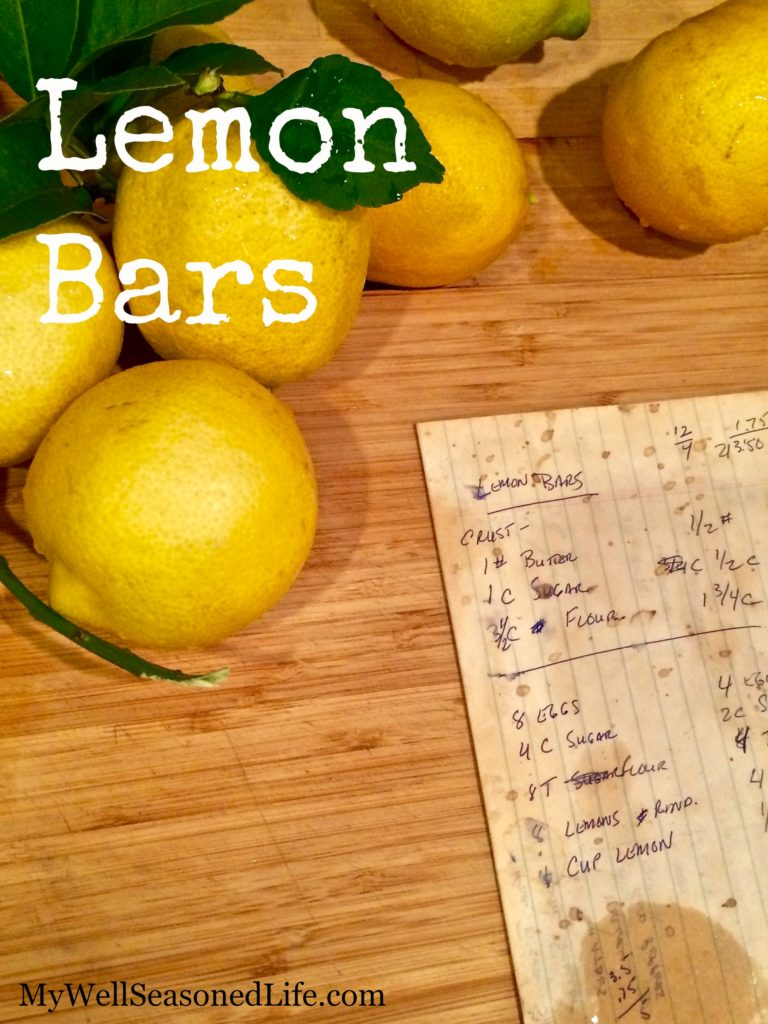 tried and true Lemon Bar Recipe
