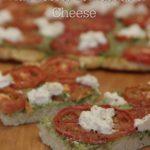 Cauliflower Pizza Crust Pesto Tomatoes
