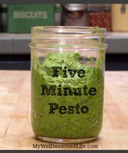 five minute pesto