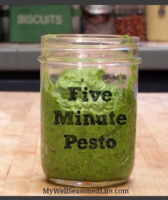 five minute pesto