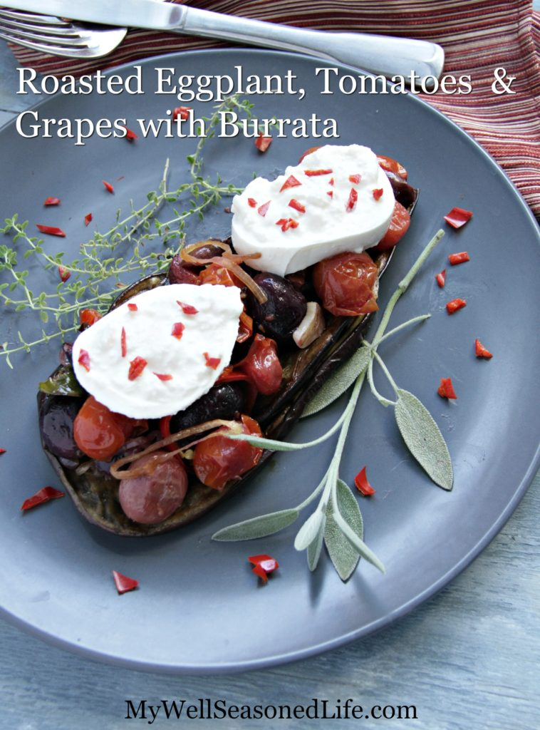 eggplant-tomatoes, grapes-beauty