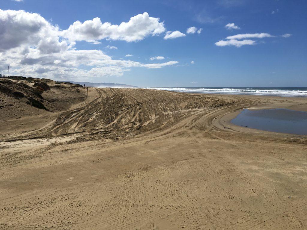 Truck tracks Oceano Dunes