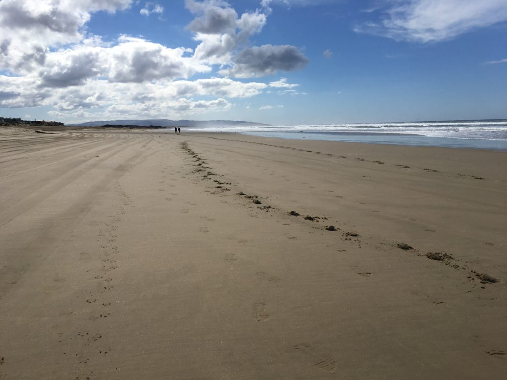Oceano Dunes foot prints